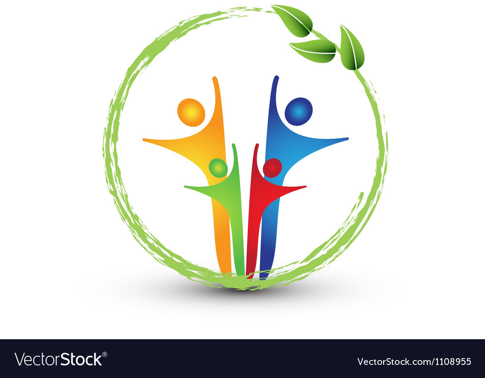 Family and ecology system logo vector image