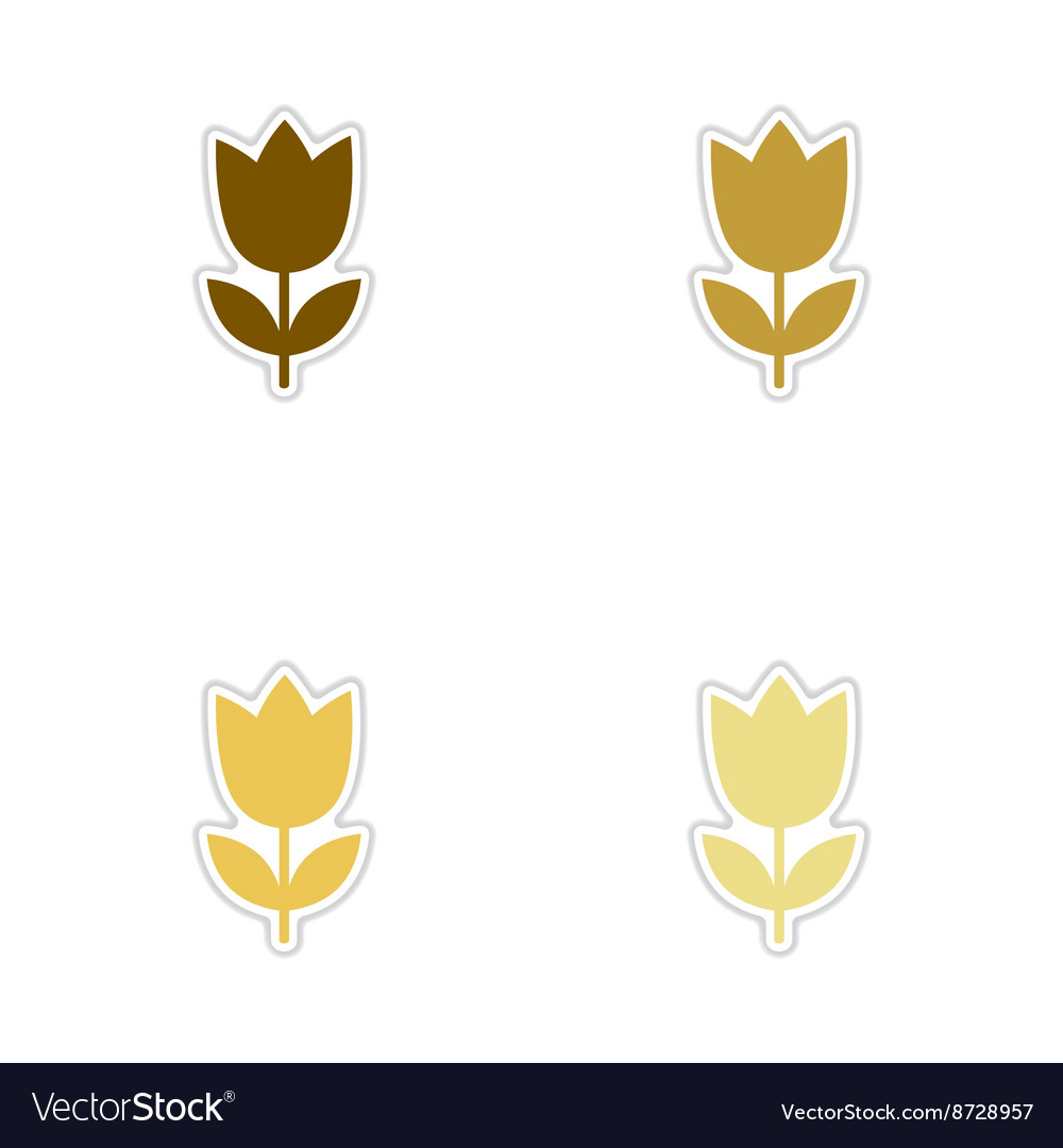 Concept of paper stickers on white background