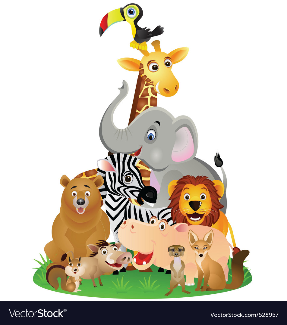 Animal safari vector image