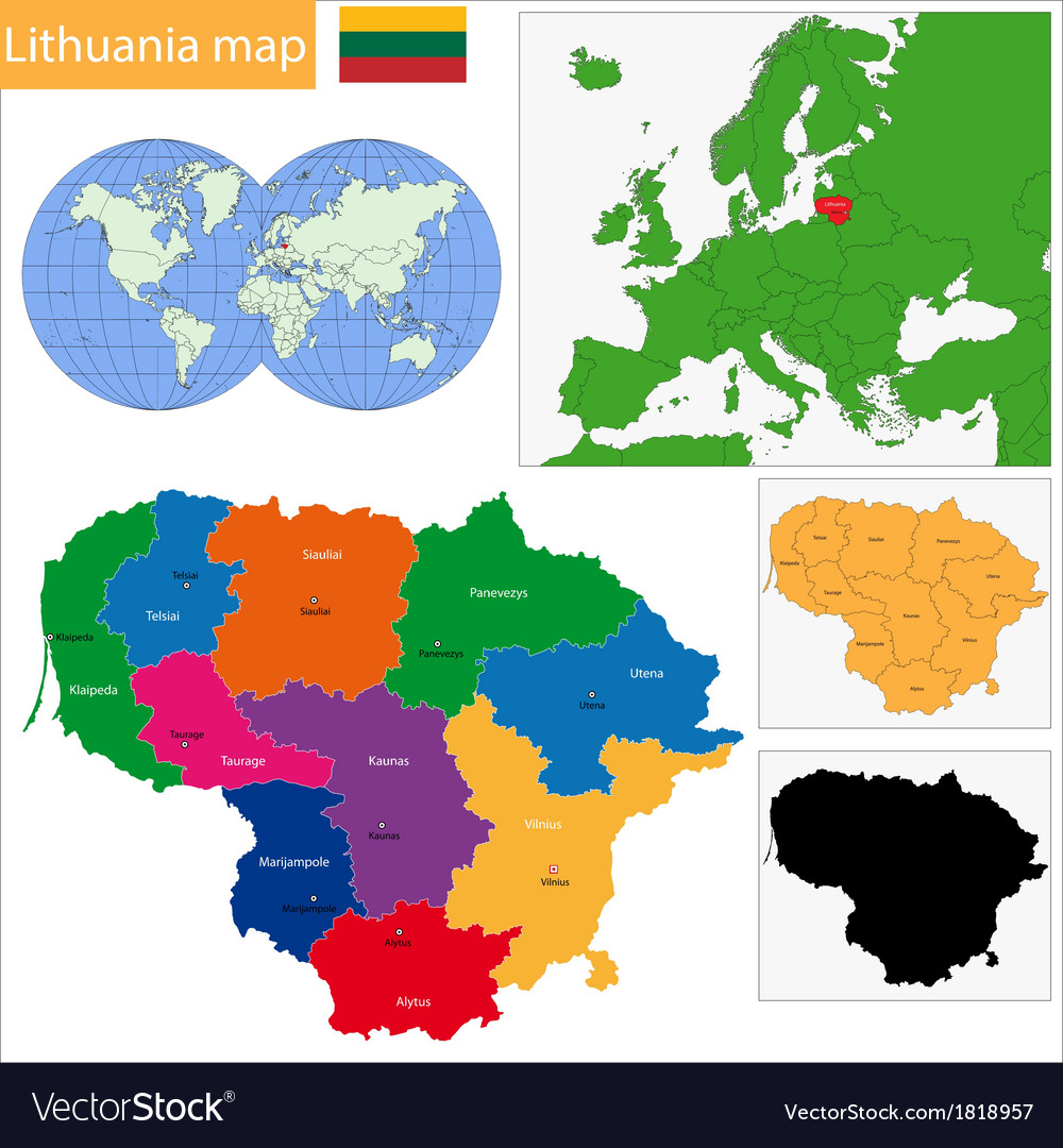 Lithuania Map Whkmla Historical Atlas Lithuania Page Lithuania Map - Lithuania map vector