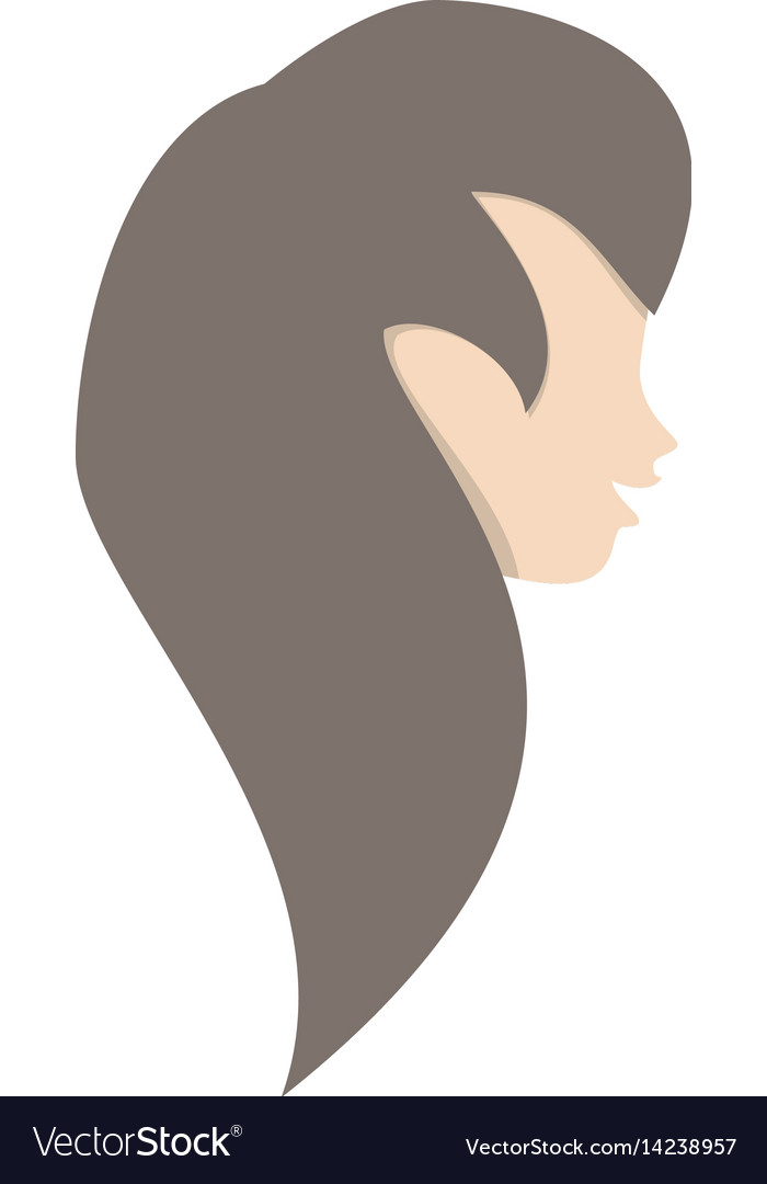 Profile woman romantic image vector image