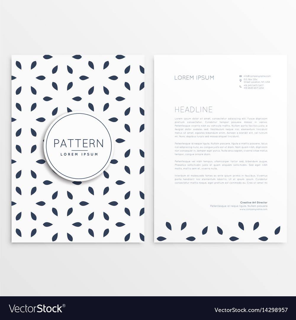 Stylish letterhead design in minimal style vector image