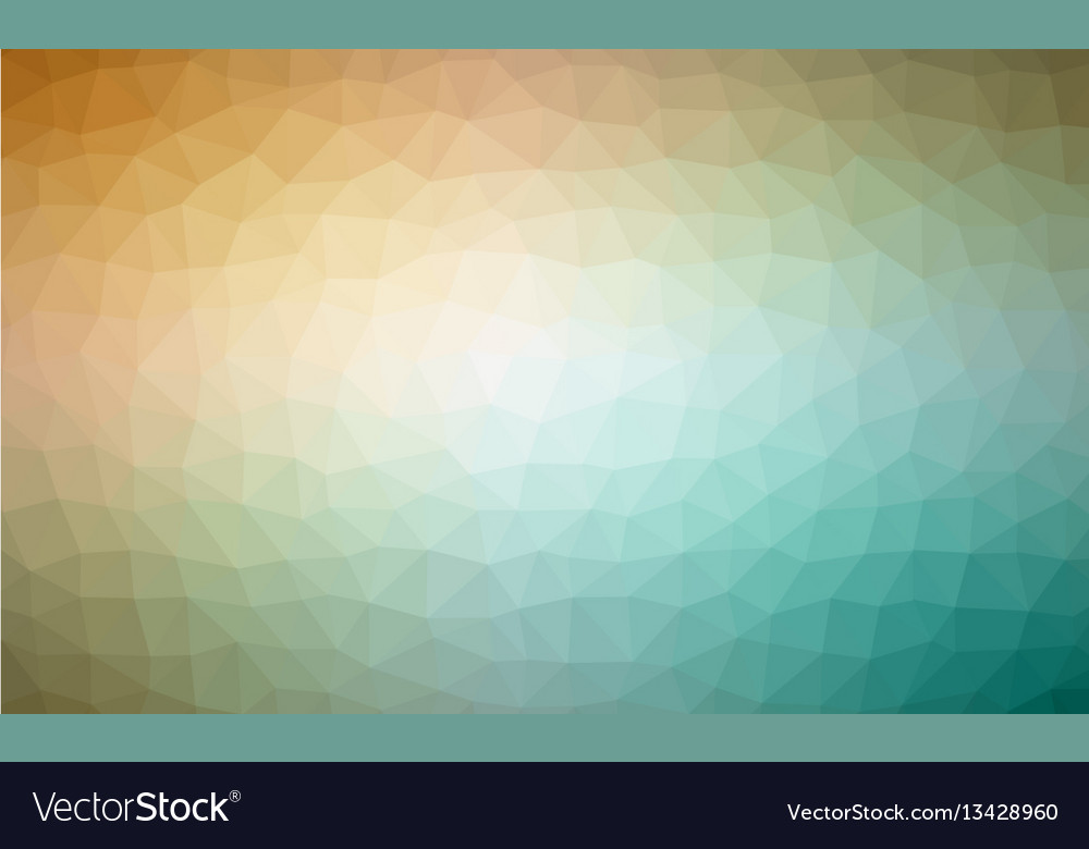 Abstract green colorful lowploly of many triangles vector image