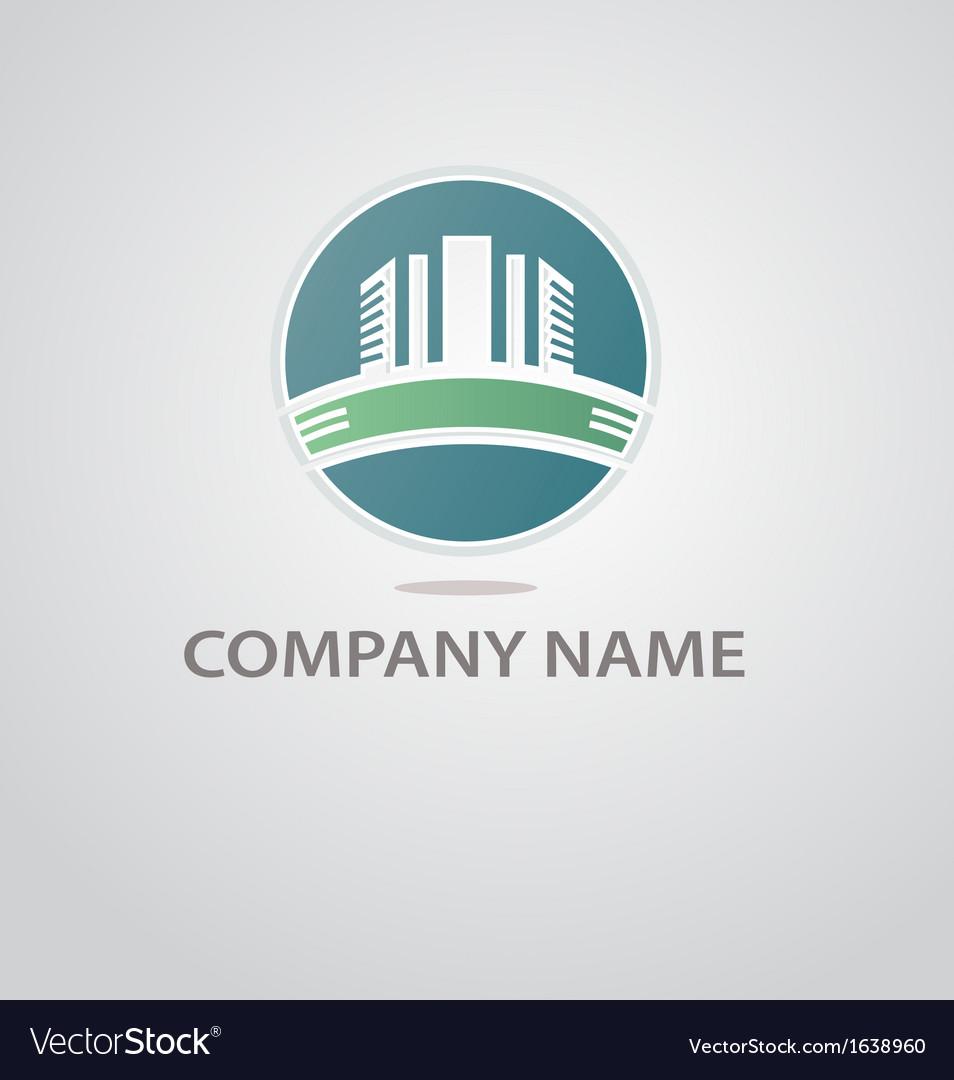 Logo of the construction company vector image