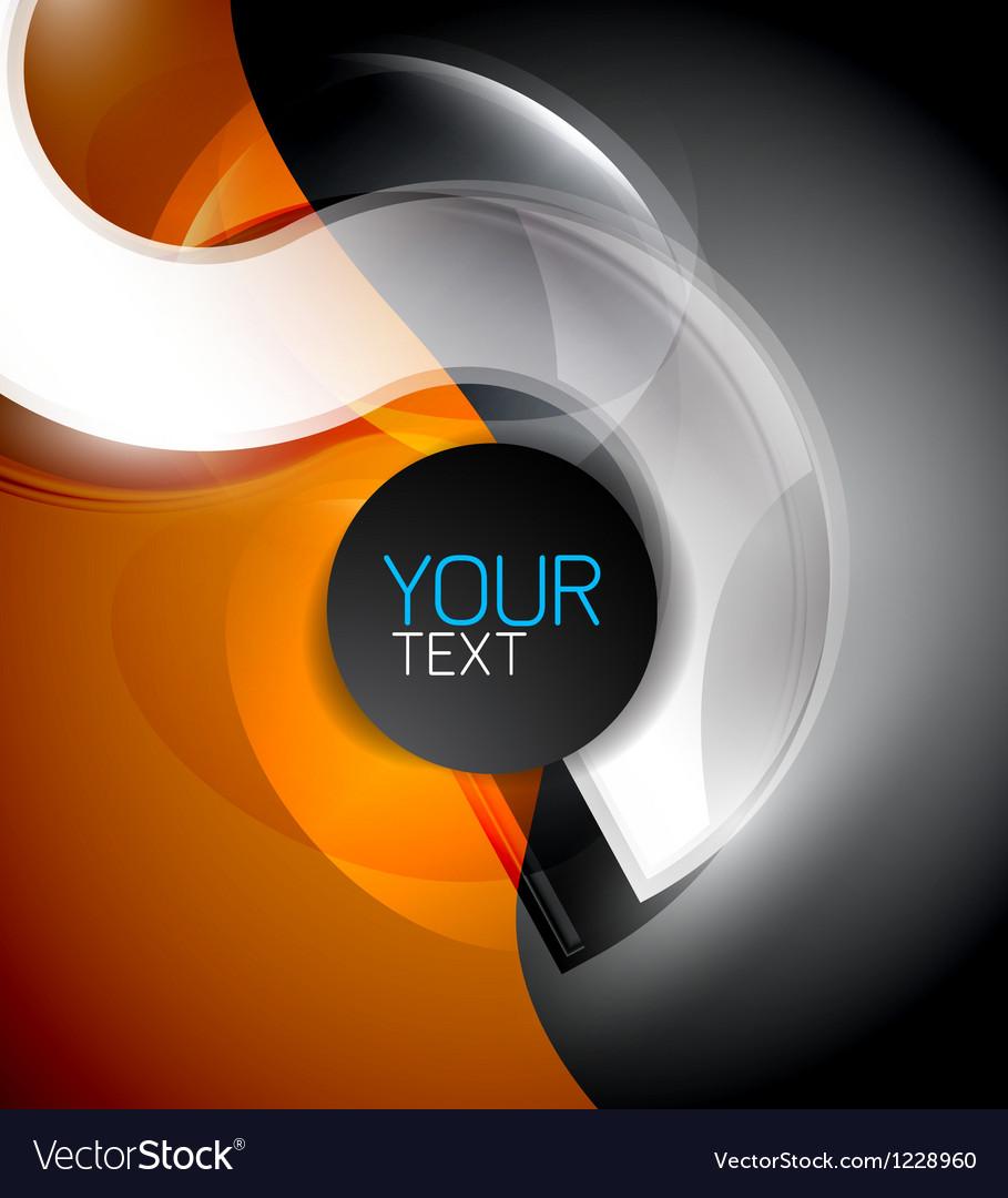 Modern hi-tech design template vector image