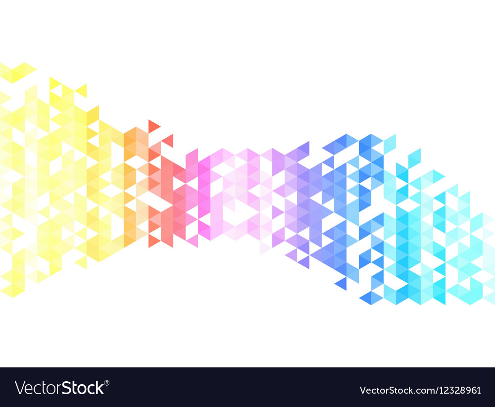 Abstract triangles creative backgorund Triangles vector image