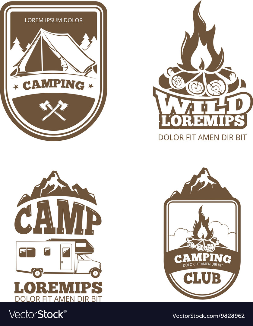 Wilderness and nature exploration vintage vector image