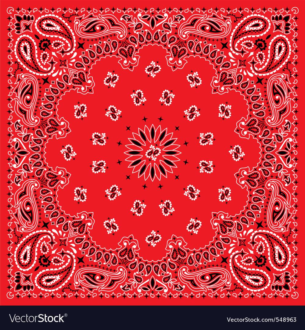 Bandana  colorful vector image