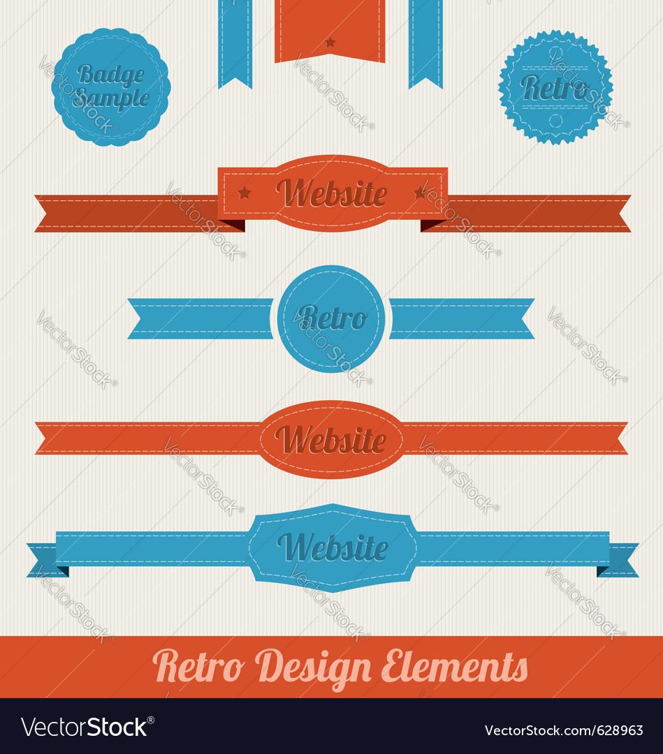 Retro web elements vector image
