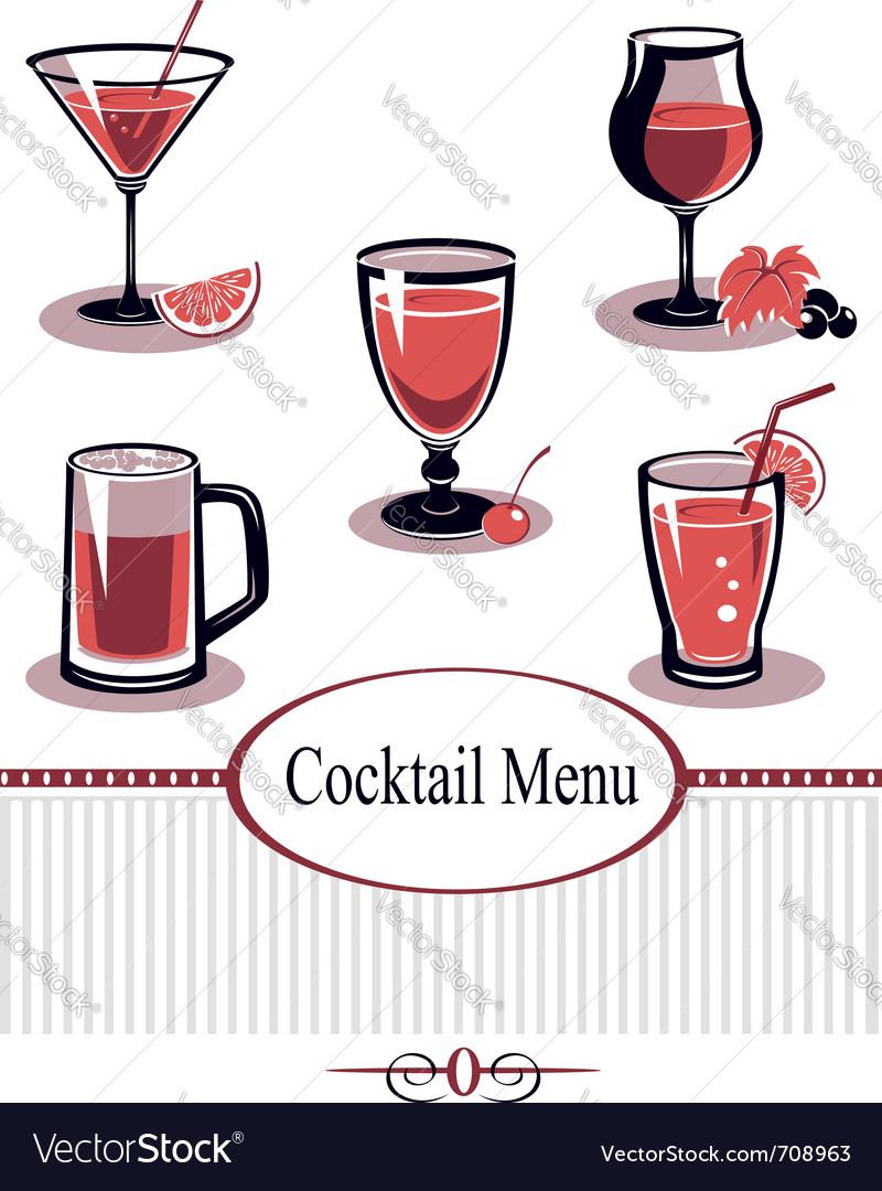 Summer drinks vector image