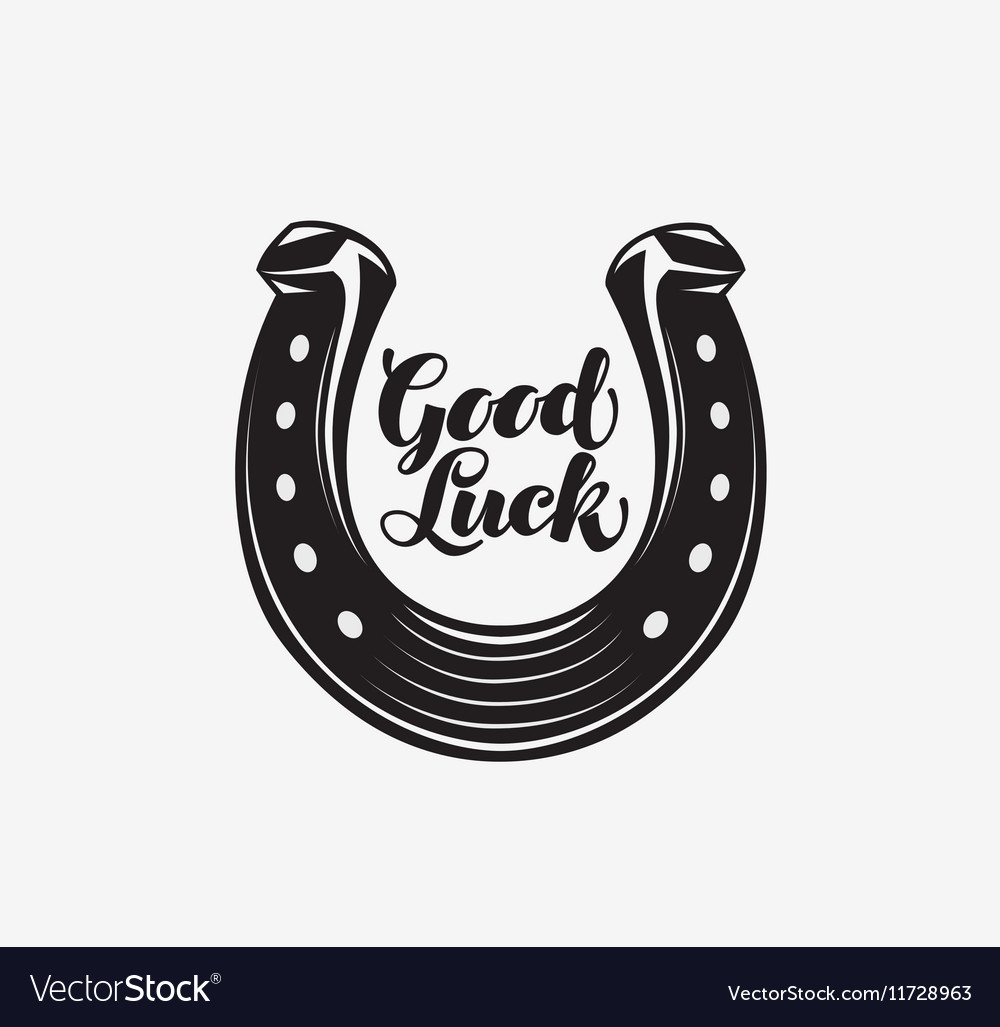 Good luck Horseshoe with inscription vector image