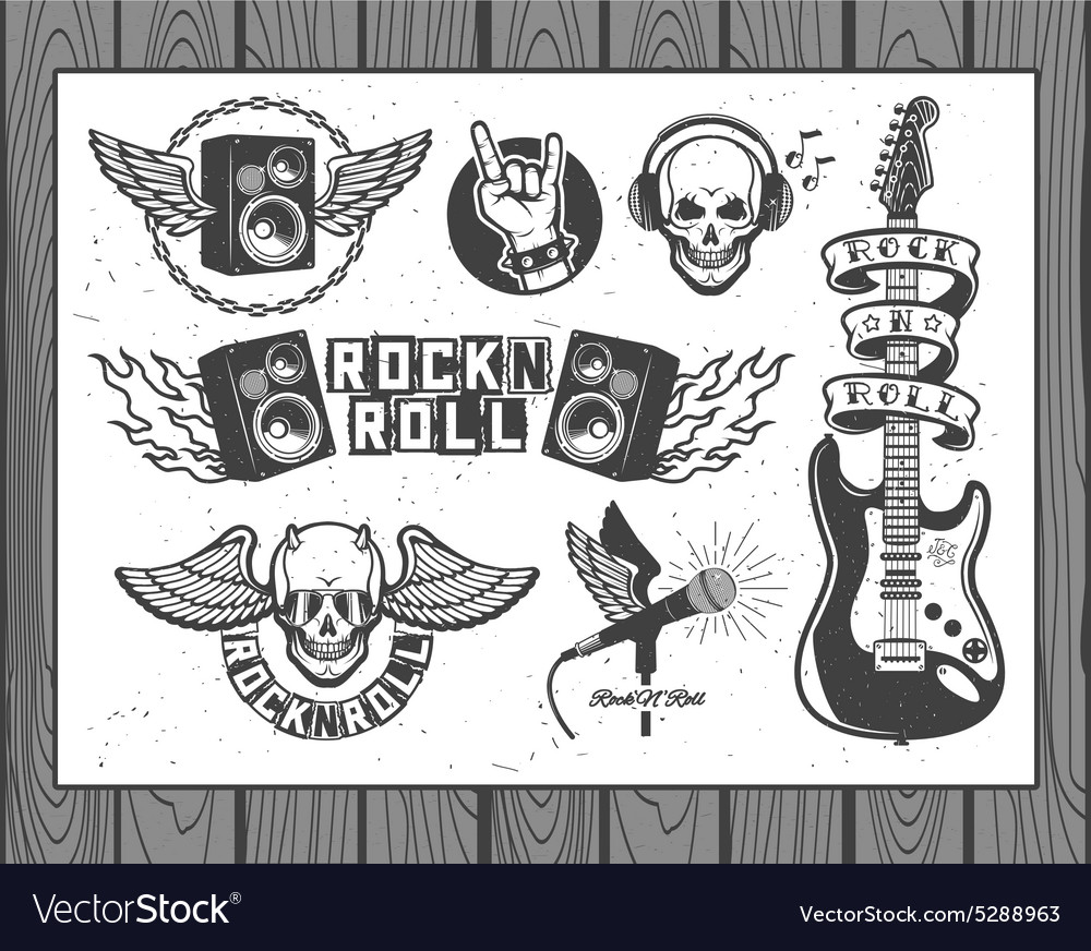 Music collection vector image
