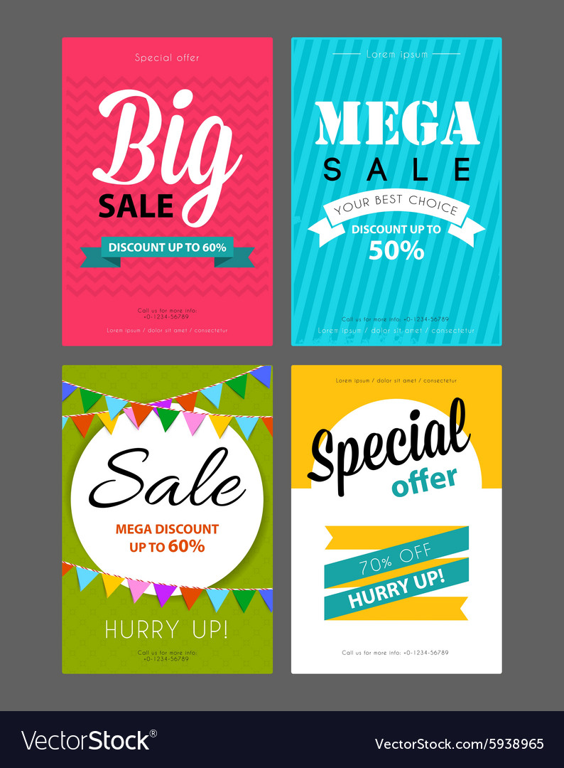 Big sale flyers template Royalty Free Vector Image VectorStock – Sales Flyer Template