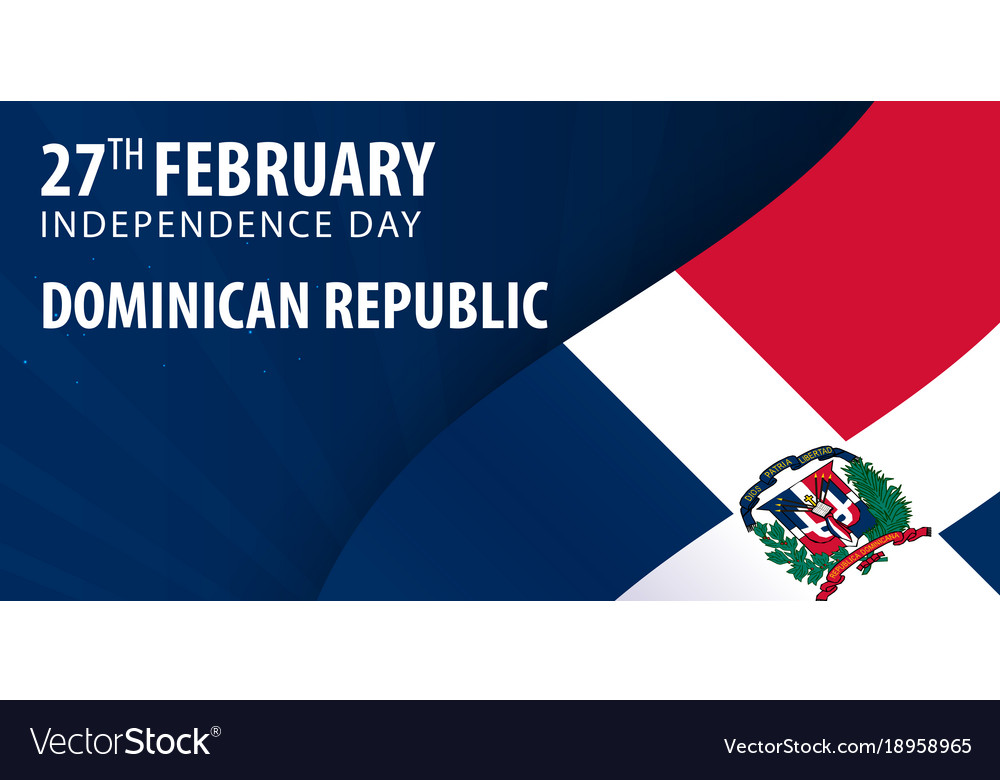 Independence Day Of Dominican Republic Flag And Vector Image - Dominican republic independence day