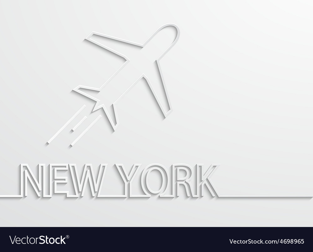 Modern new york capital background vector image