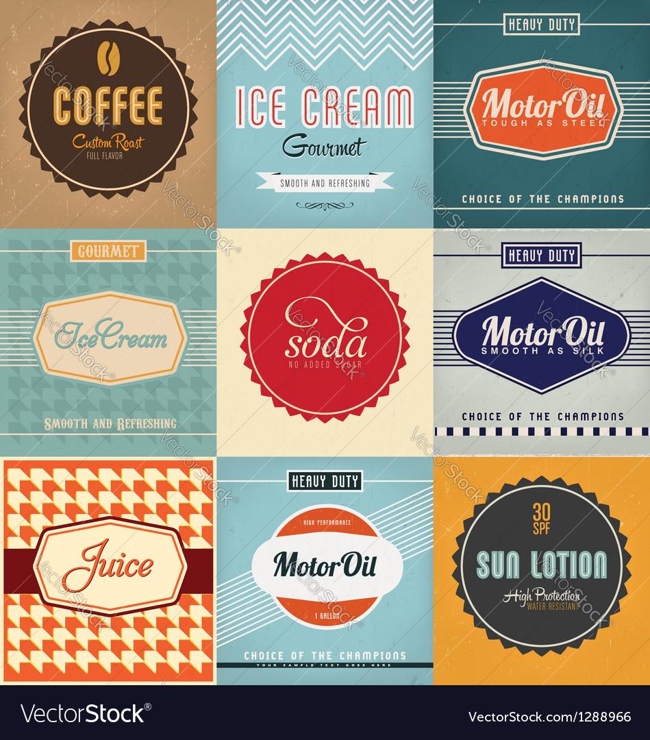 Label Designs vector image