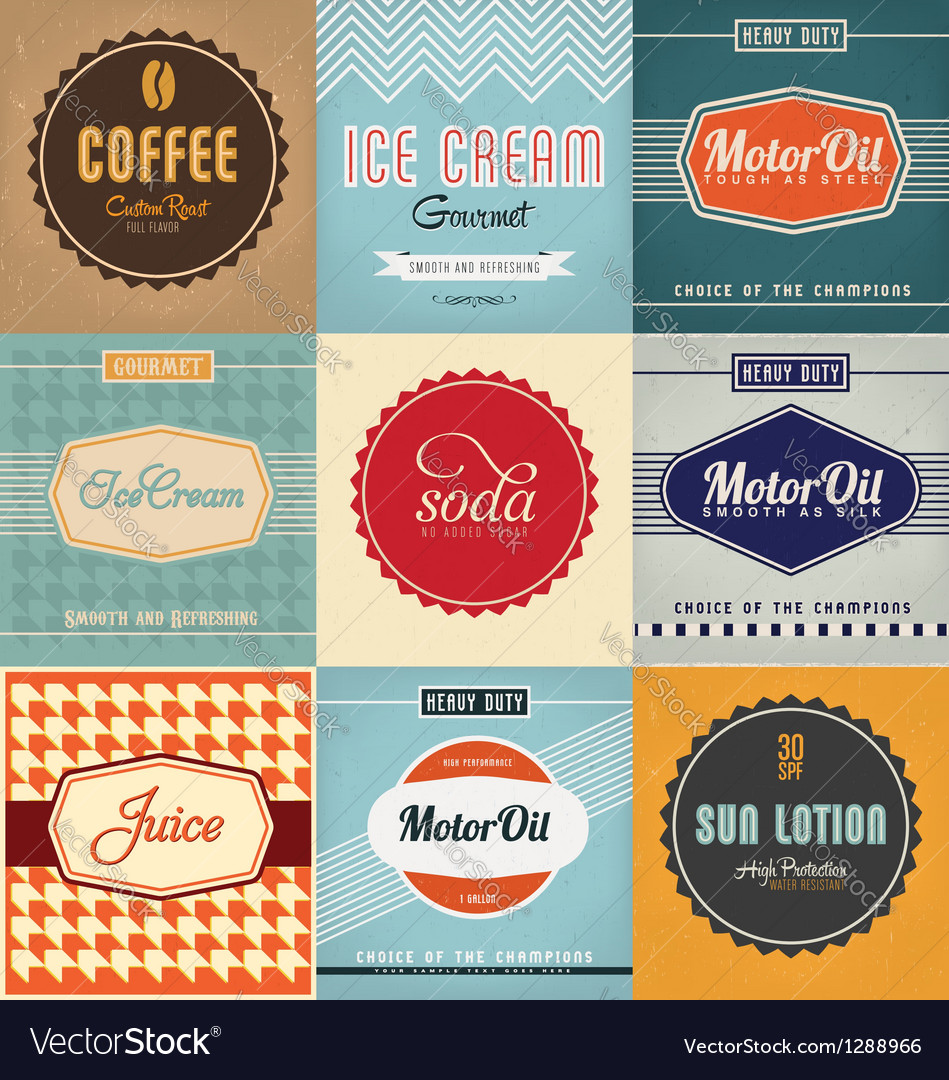 Label Designs vector image