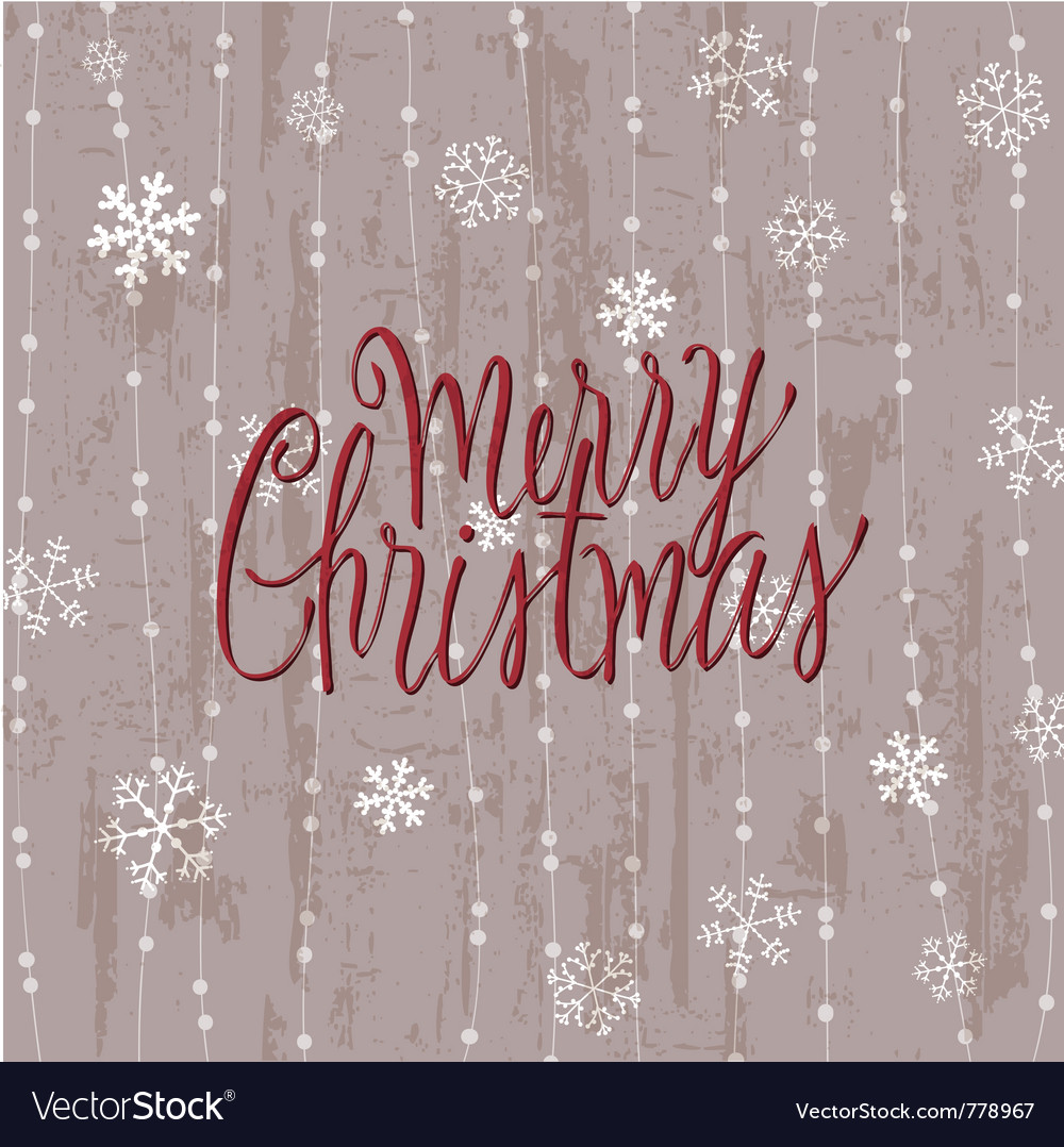 Vintage christmas card in vector image