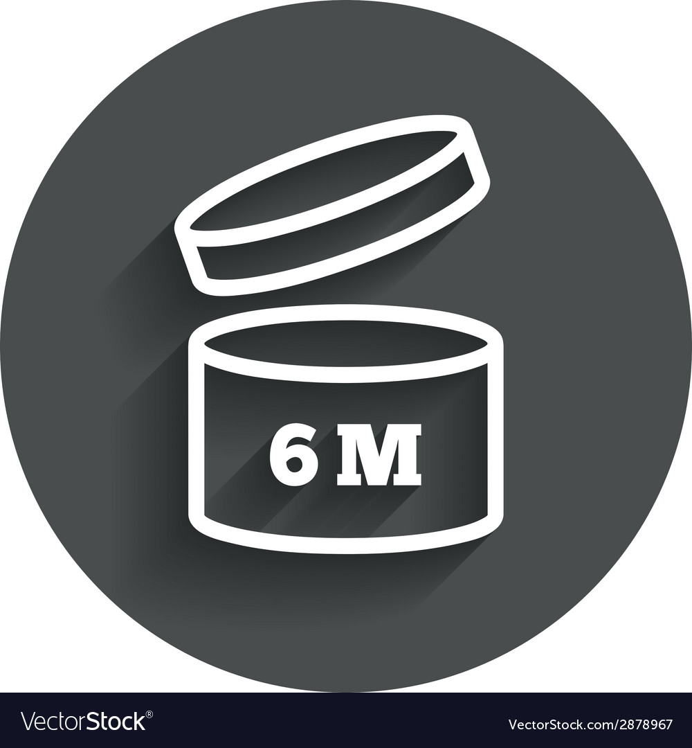 After opening use 6 months sign icon vector image