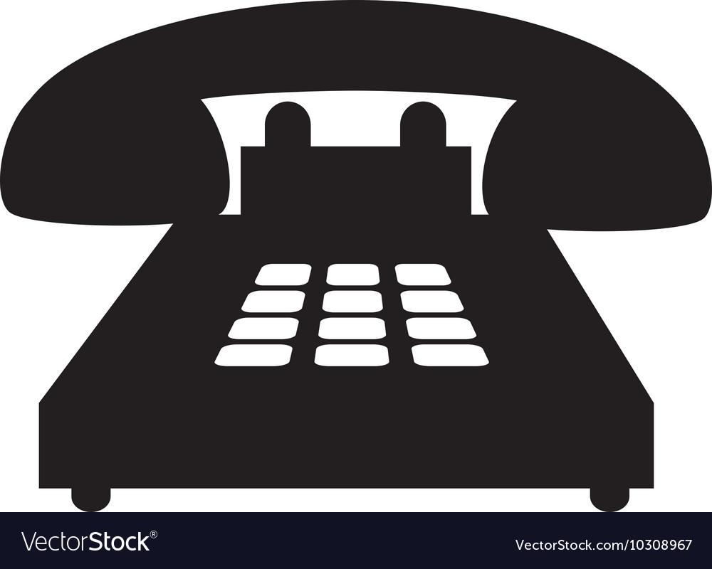 Telephone handset call vector image