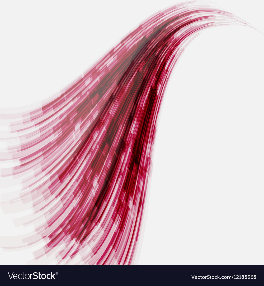 Red wave element for design vector image