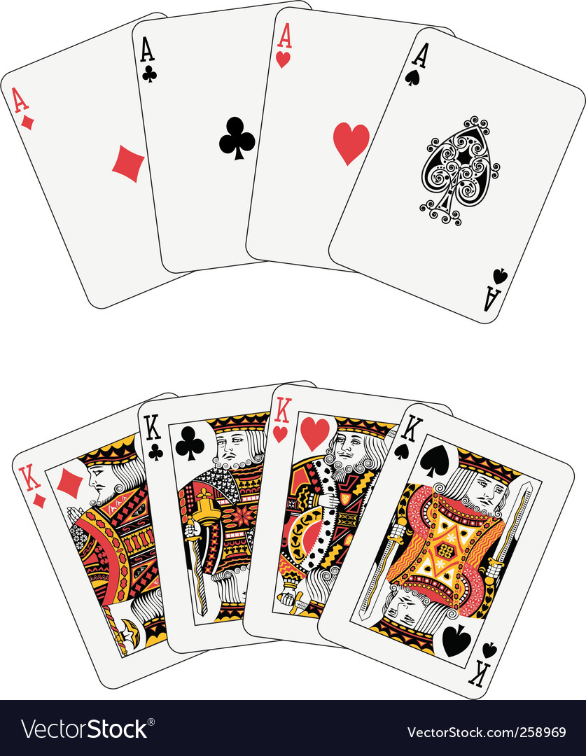 Poker aces and kings Vector Image