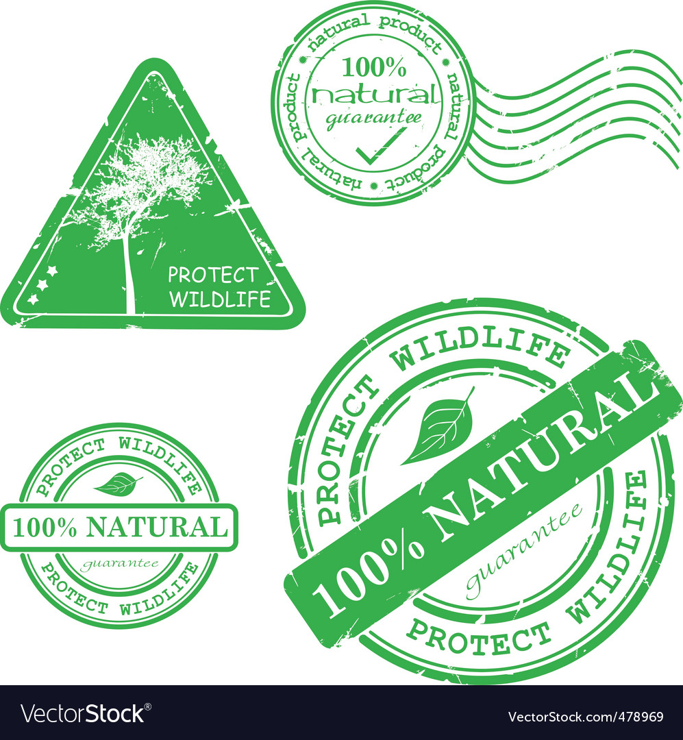 Natural product stamp Vector Image