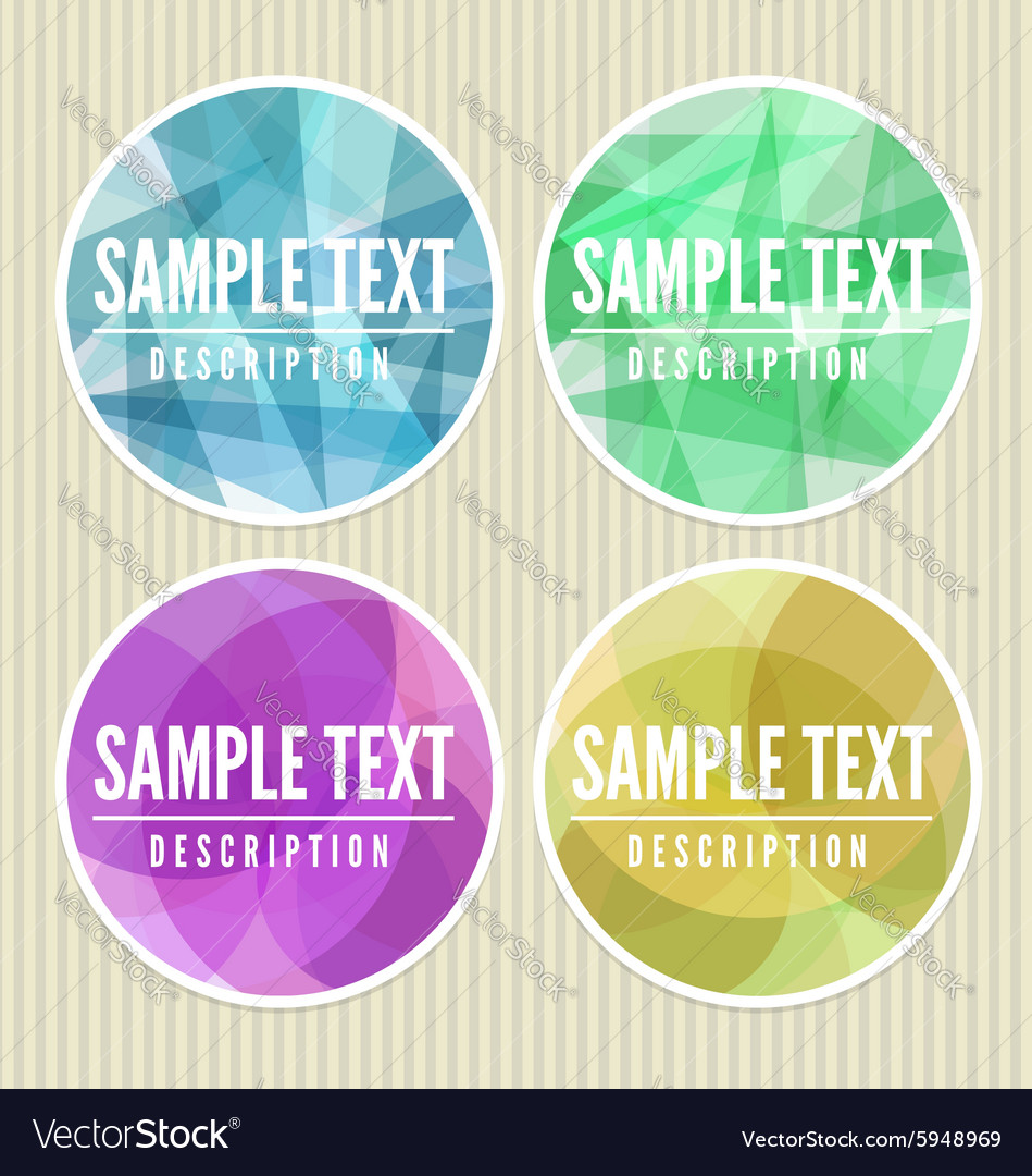 Abstract labels vector image
