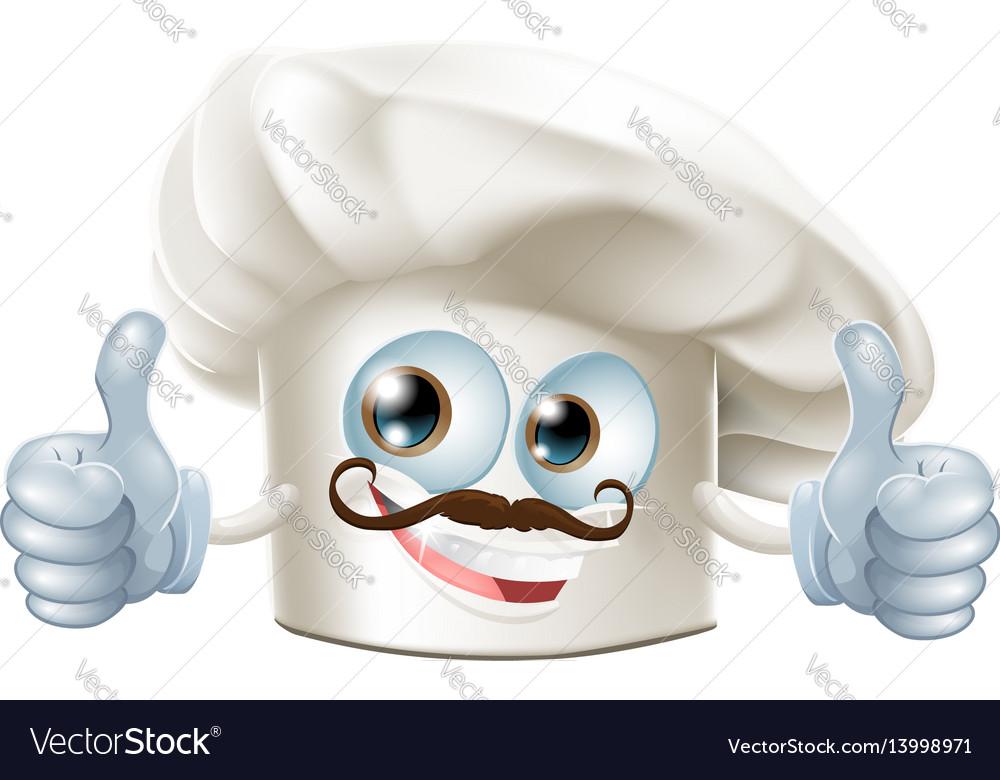 Happy cartoon chef character vector image