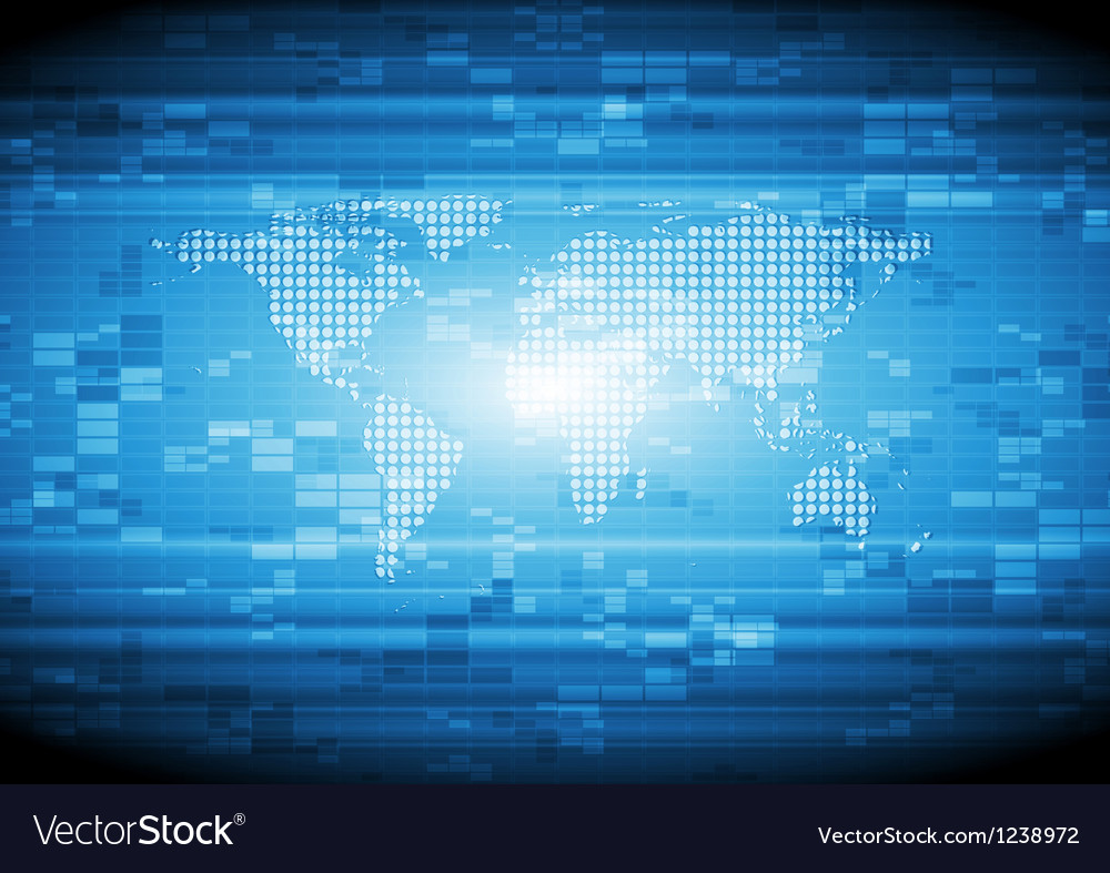 Abstract hi-tech template vector image