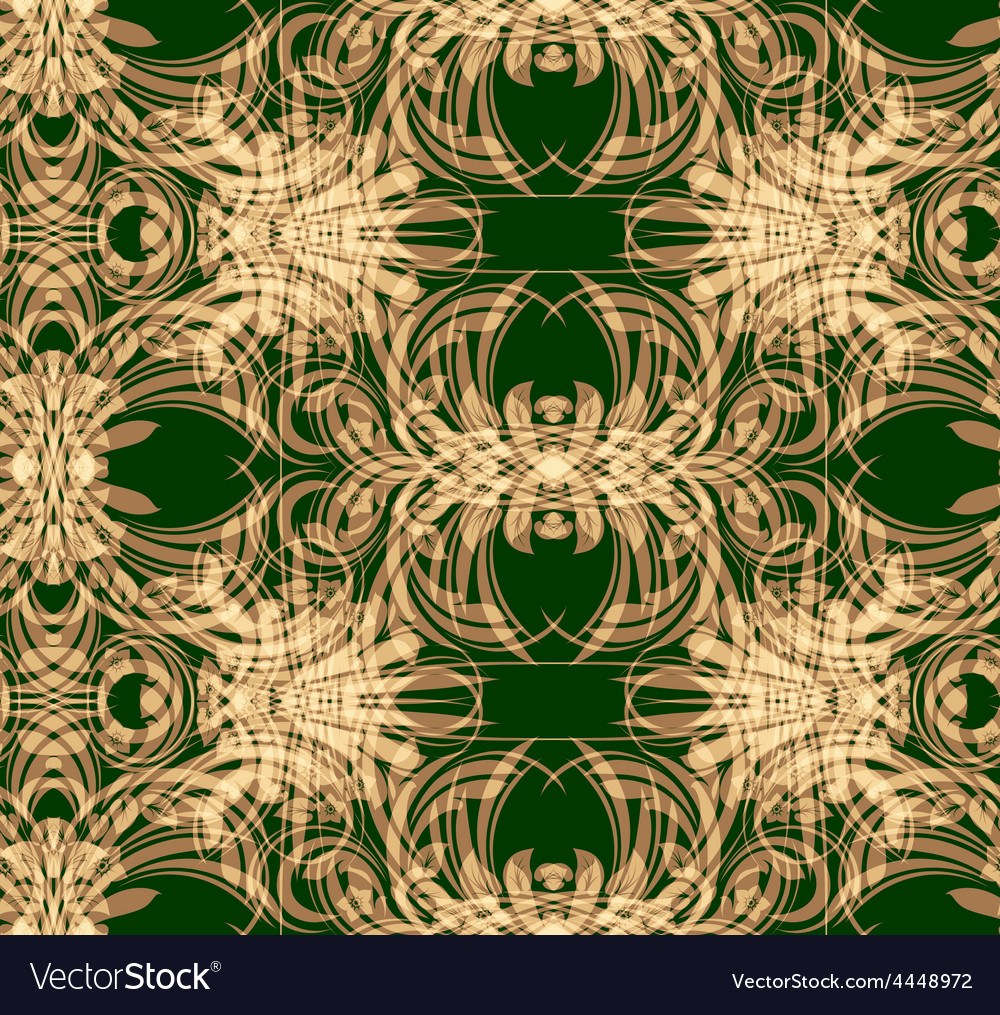 Floral design seamless pattern vector image