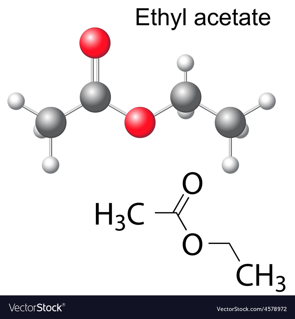 Formula and model of ethyl acetate molecule vector image formula and model of ethyl acetate molecule vector image biocorpaavc
