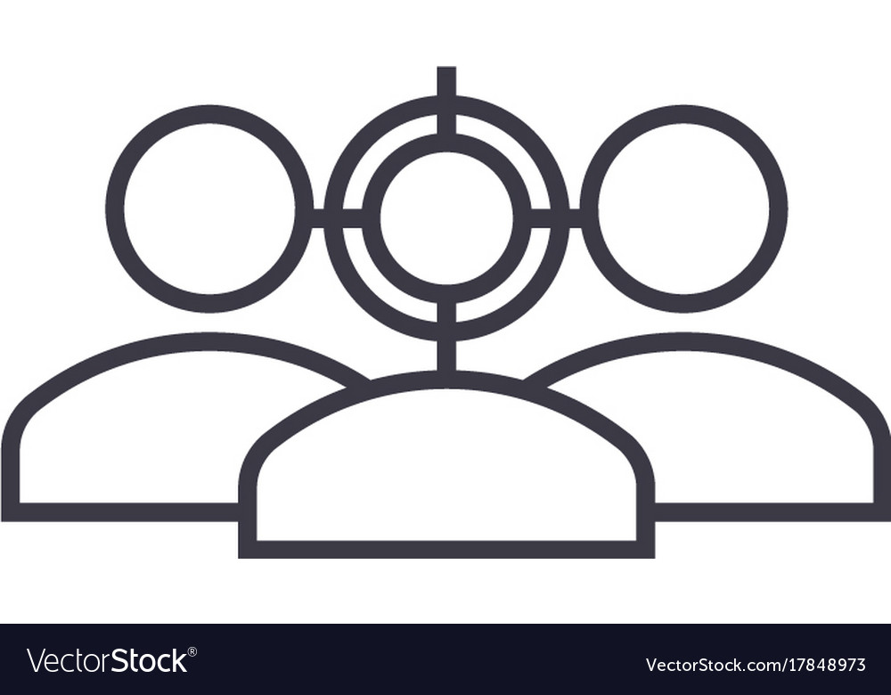 Focus on avatar line icon sign vector image