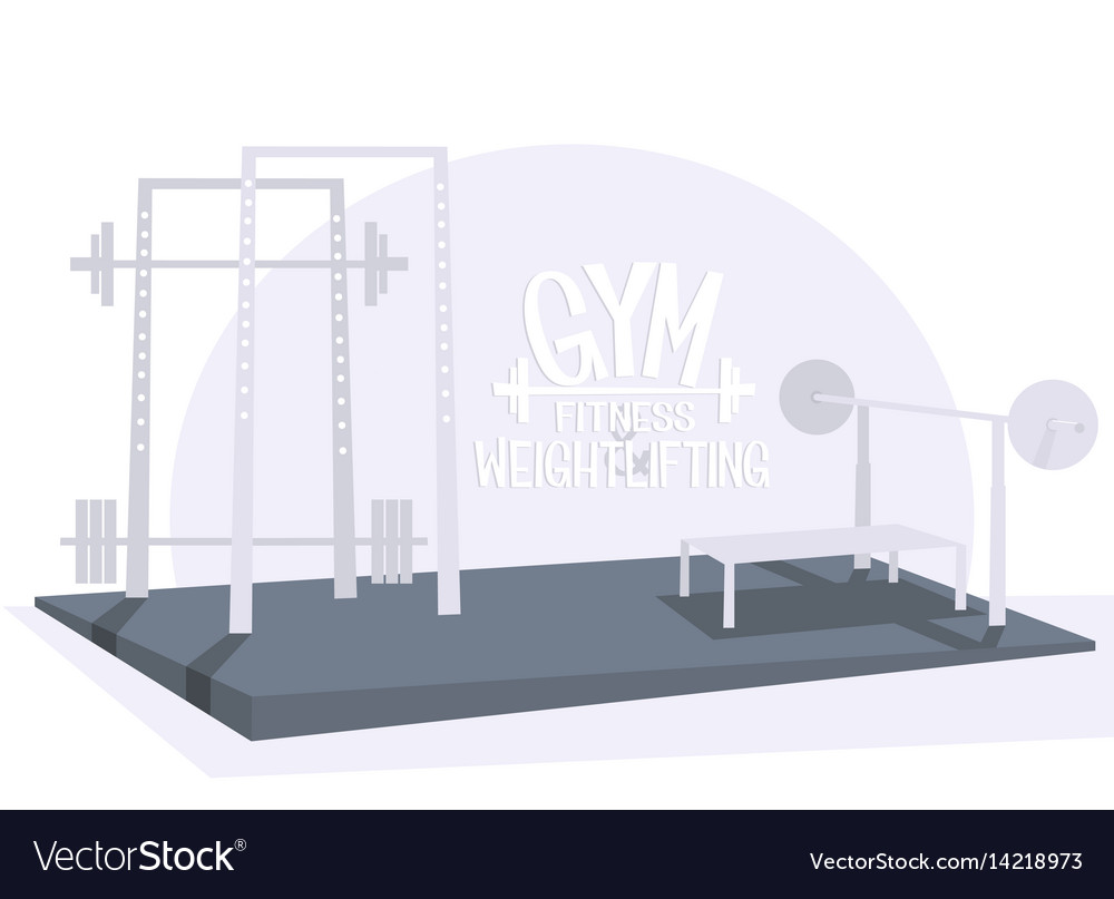 Gym bodybuilding and weightlifting interior vector image