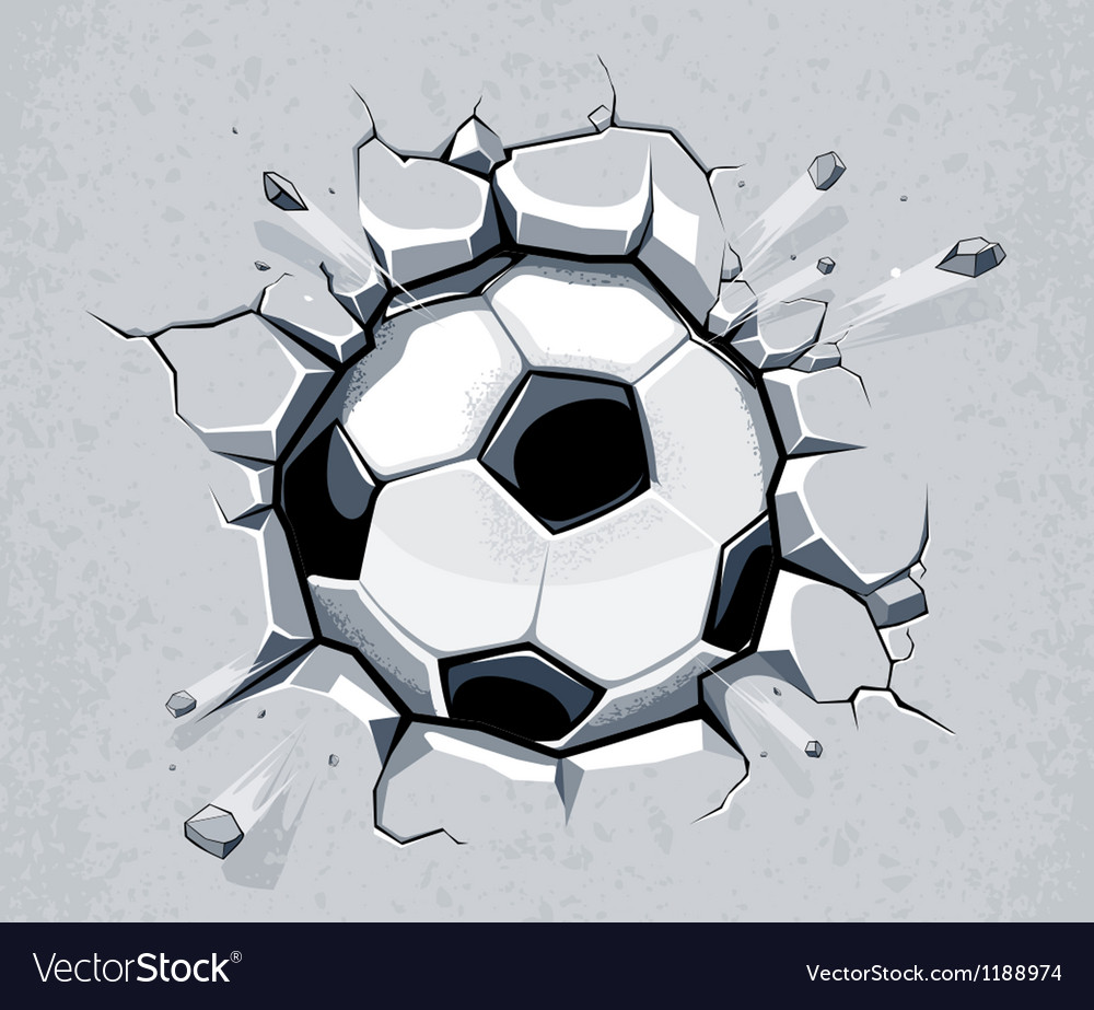 Ball breaking wall vector image