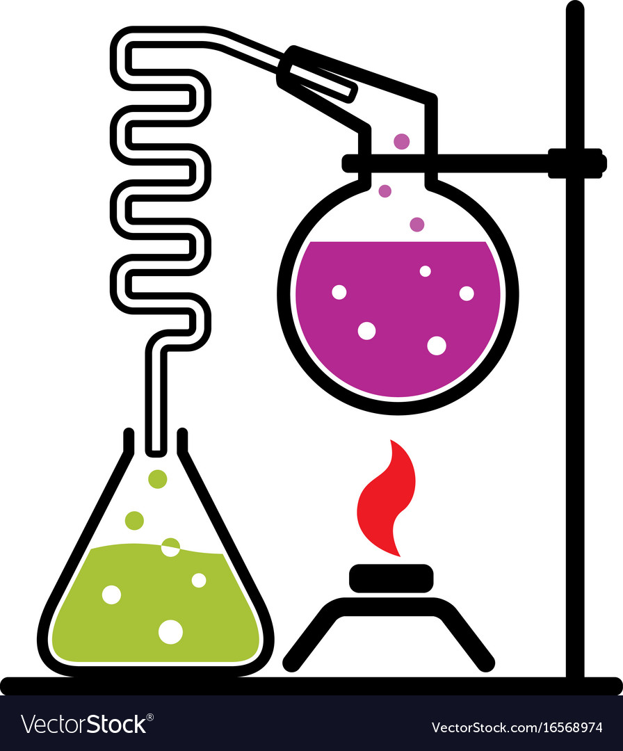 Chemical experiment set vector image