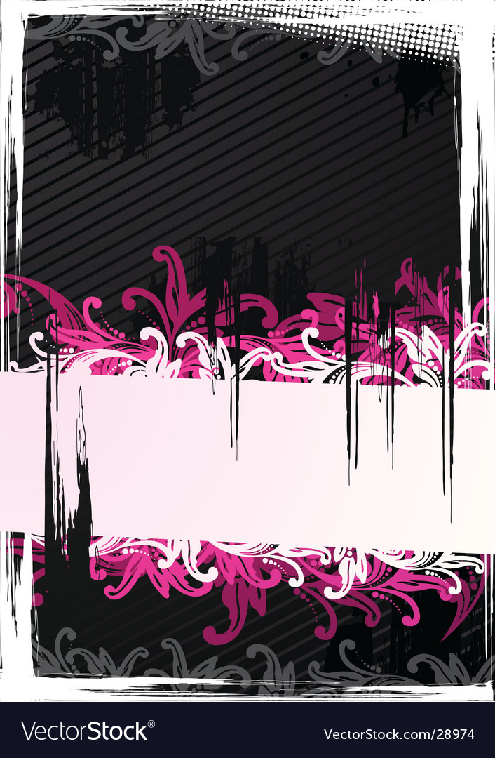 Illustration of pink wallpaper vector image