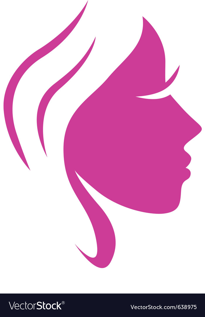 Beauty woman face vector image