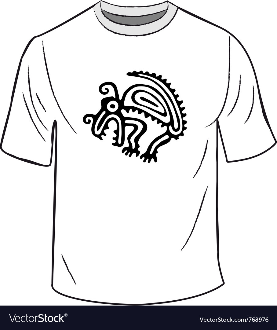 T-shirt with mexican symbol Royalty Free Vector Image
