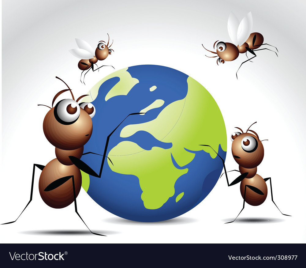 Ant world Vector Image