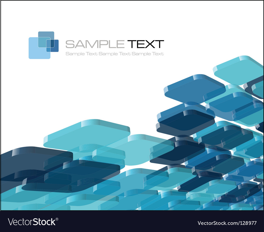 Blue composition vector image