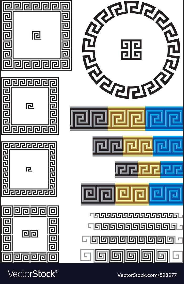 Greek key pattern Royalty Free Vector Image - VectorStock