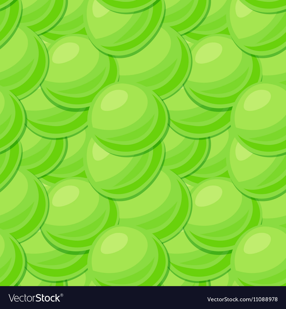 Seamless pattern with pea seeds vector image