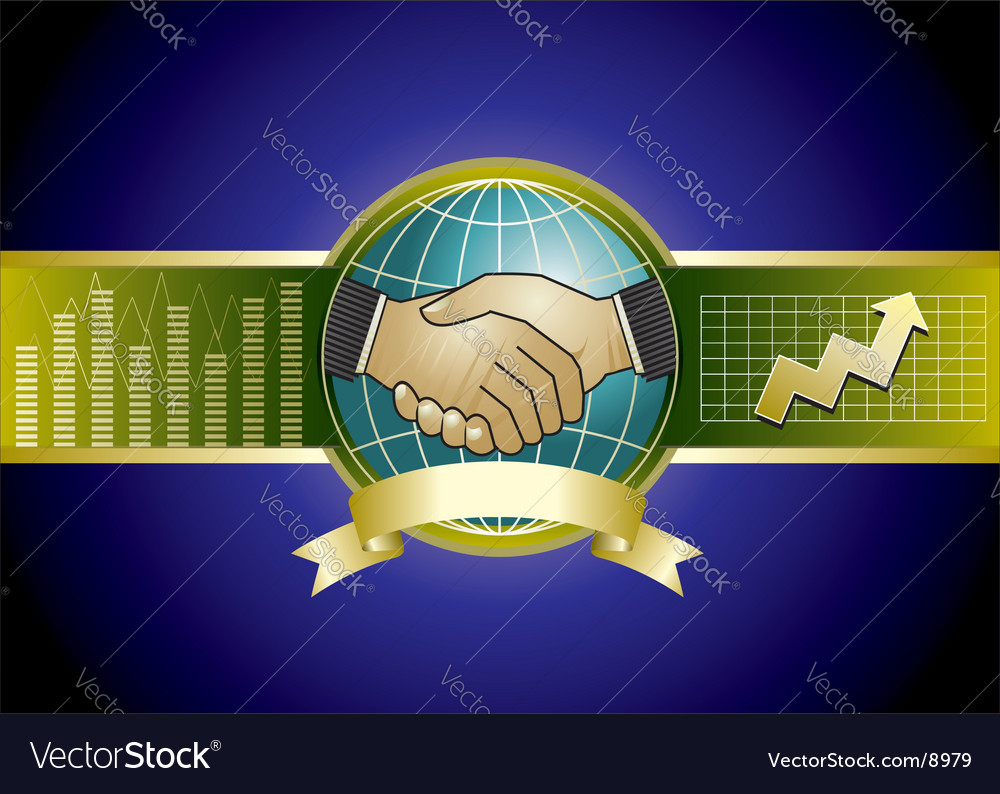 Handshaking vector image