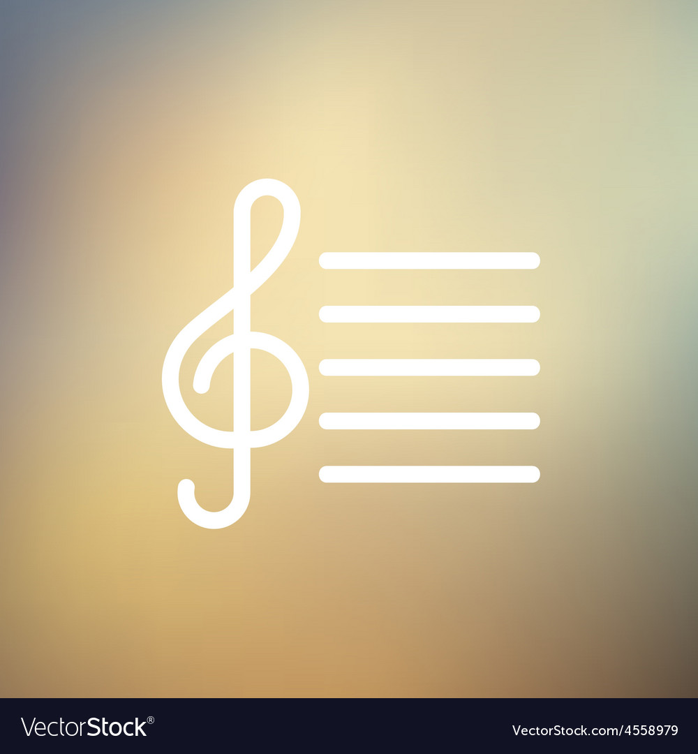 Musical Note thin line icon vector image