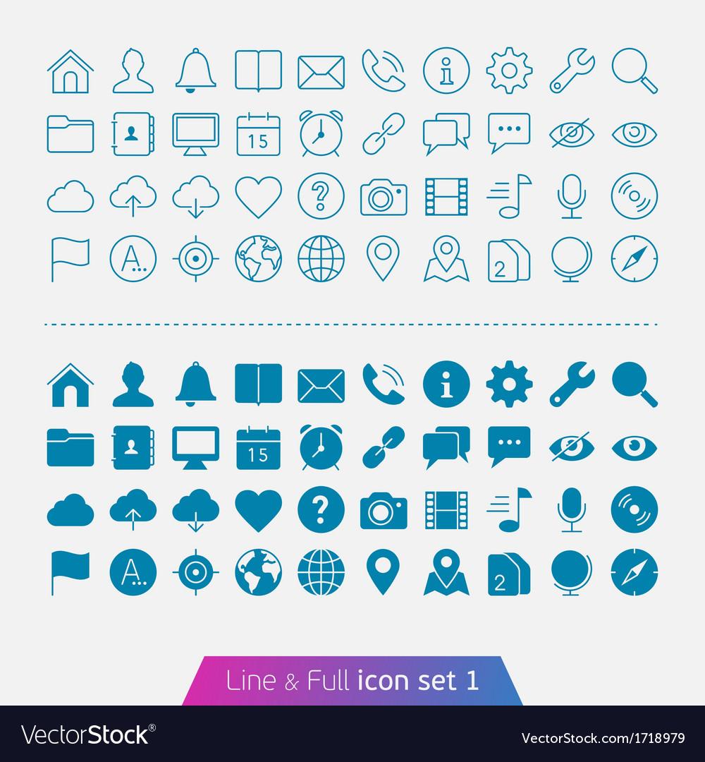 Universal Basic set 1 vector image