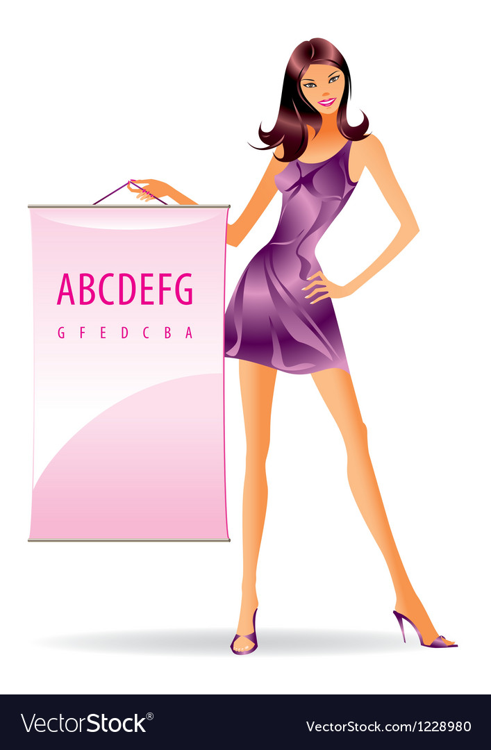 Fashion model with advertising message vector image