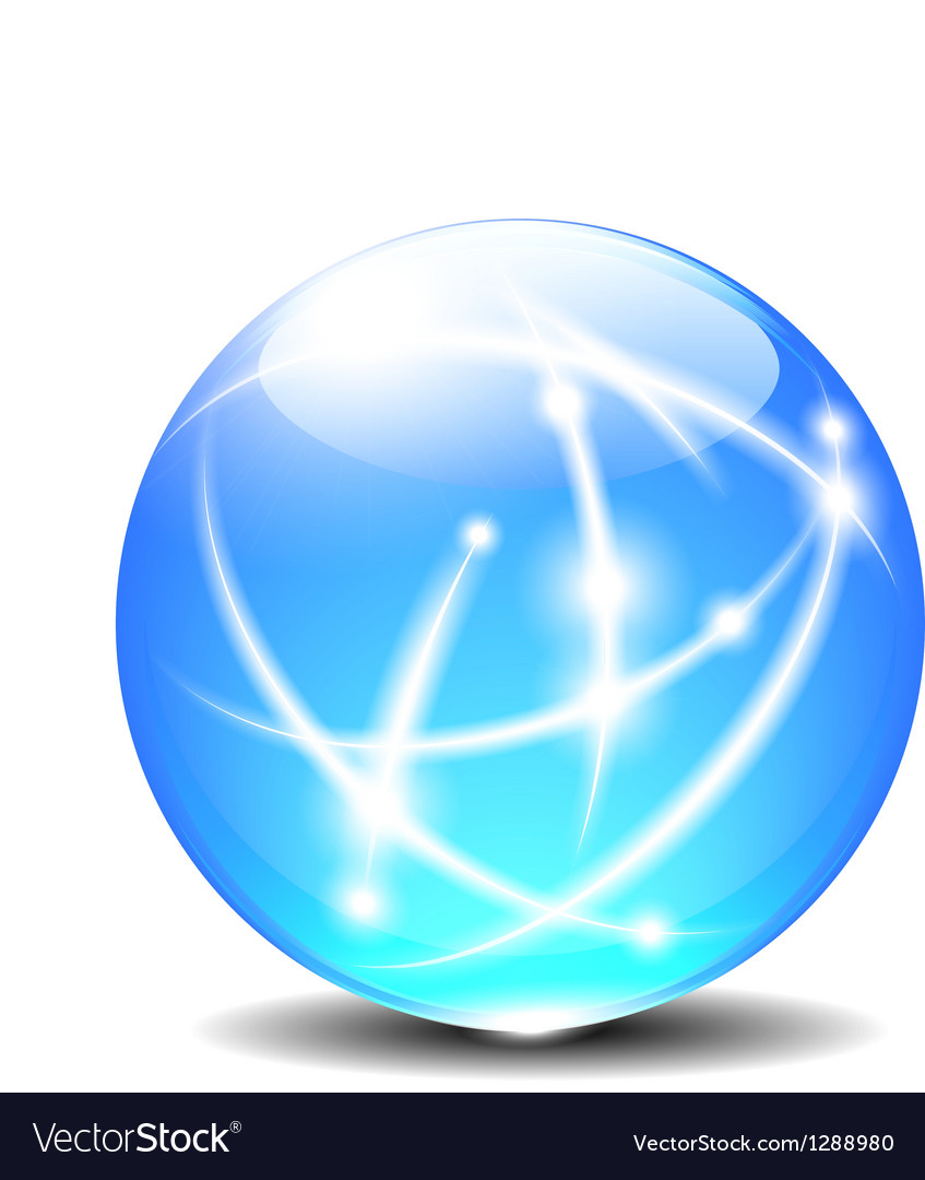 Sphere with Communication line vector image