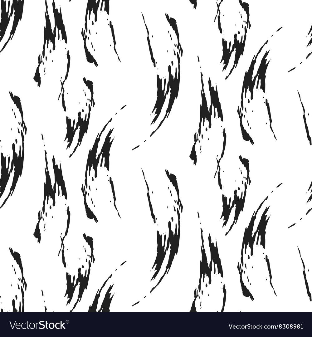Paint ink brush stroke seamless pattern vector image