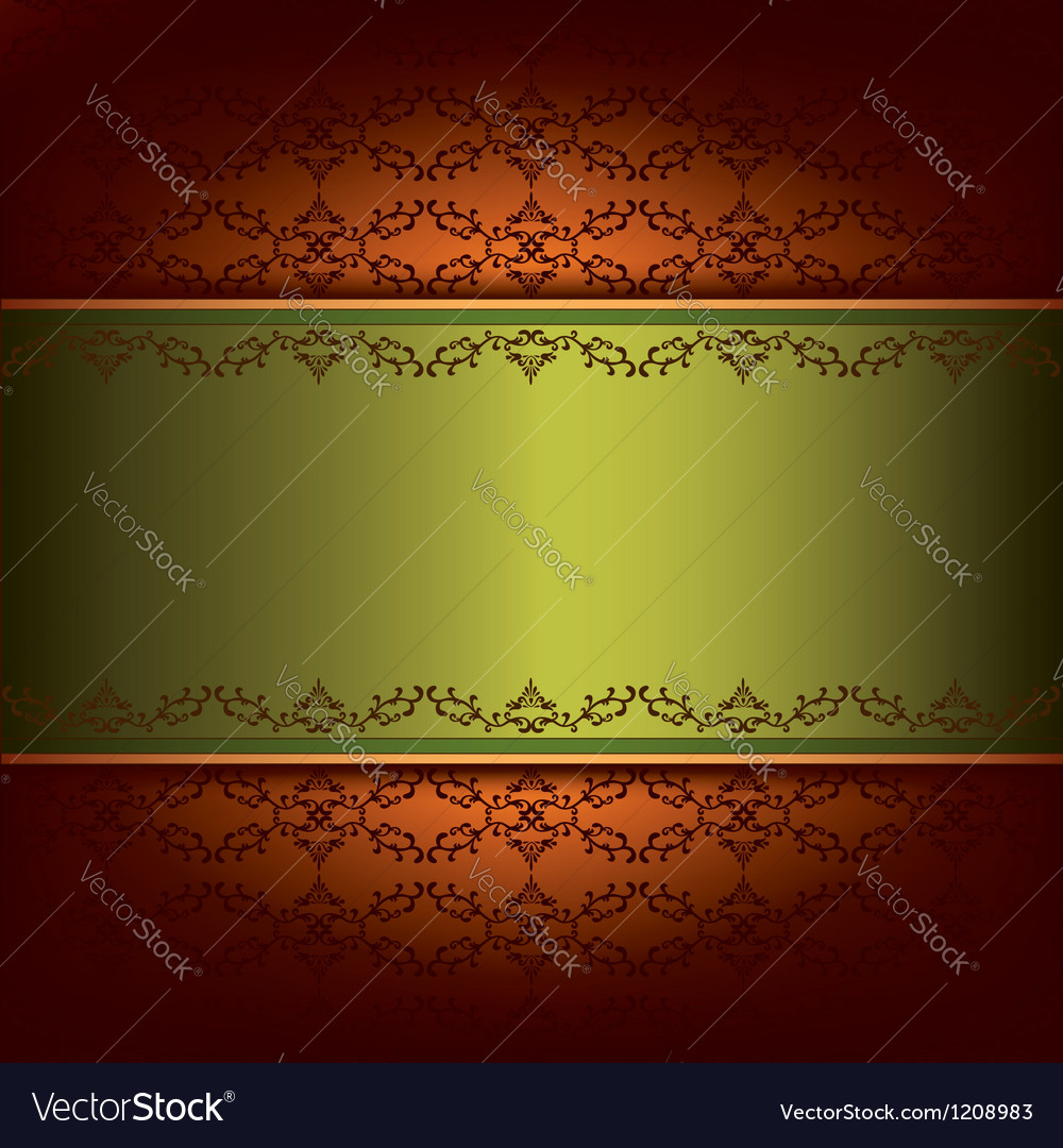 Vintage background with pattern and decorative vector image